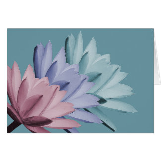 Colourful Water Lily Flowers Photo Chic Floral Card