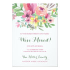 Colourful Watercolor Flower We've Moved Card