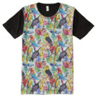 Colourful Watercolor Parrots All-Over-Print T-Shirt