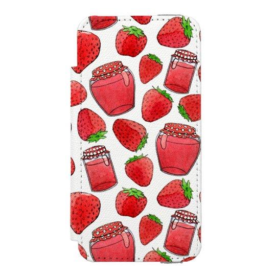 Colourful watercolor strawberries & jams incipio watson™ iPhone 5 wallet case