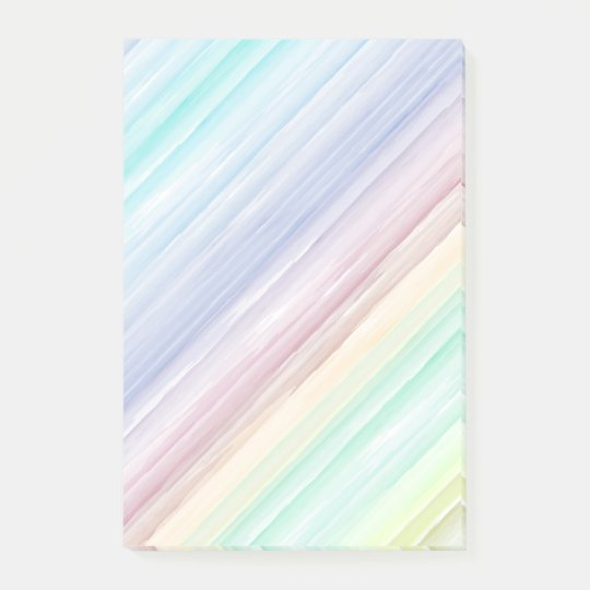 Colourful watercolor stripes pattern post-it notes