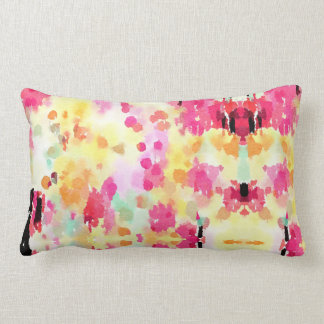 Colourful Watercolour Pillow in Yellow and Pink