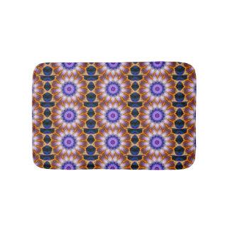 Colourful waves bathroom mat
