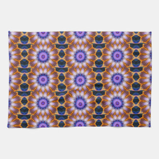 Colourful waves kitchen towel