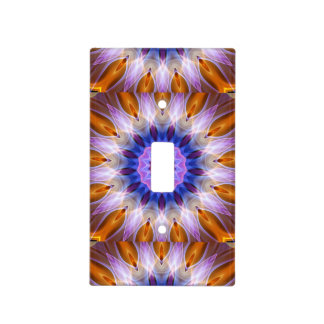 Colourful waves light switch cover