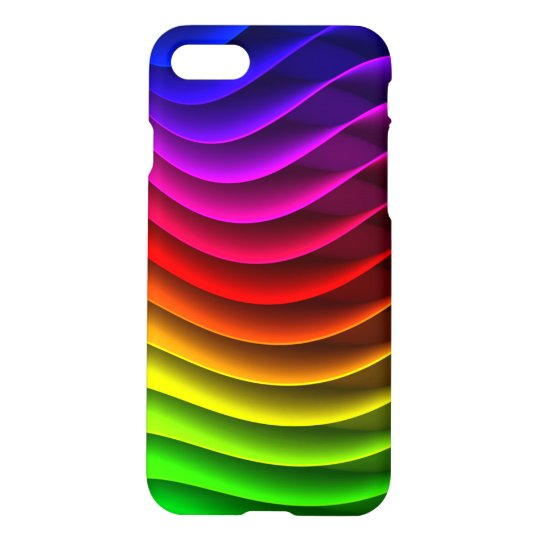 Colourful Wavy Rainbow Pattern iPhone 7 Case