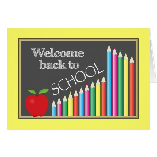 Colourful Welcome Back To School Greeting Card