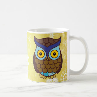 Colourful Winter Owls Coffee Mug