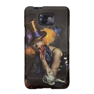 Colourful Woman Dressed as Clown Galaxy SII Cases