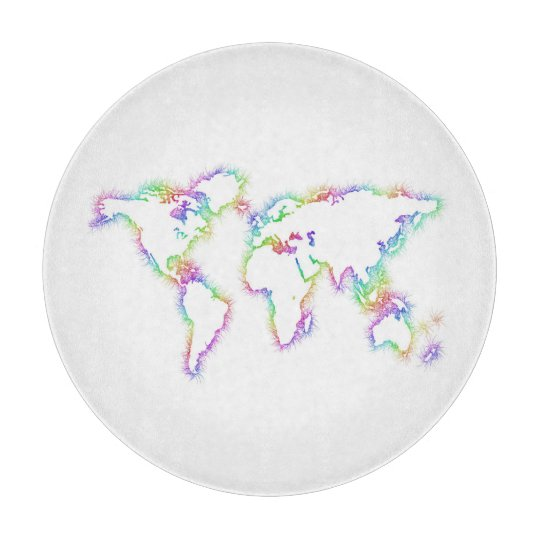 Colourful World map Boards