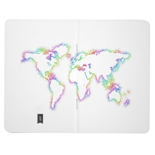 Colourful World map Journal