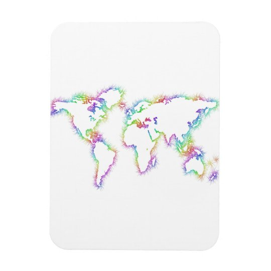 Colourful World map Magnet