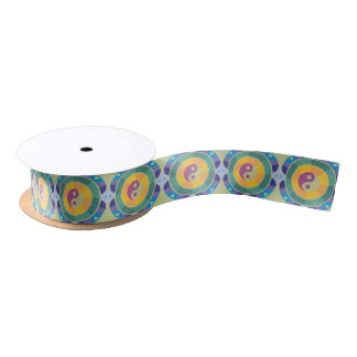 Colourful Yin Yang Pattern Satin Ribbon