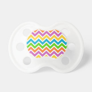 Colourful Zigzag pattern Baby Pacifiers