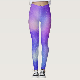 Colourfull Textured Purple Leggings