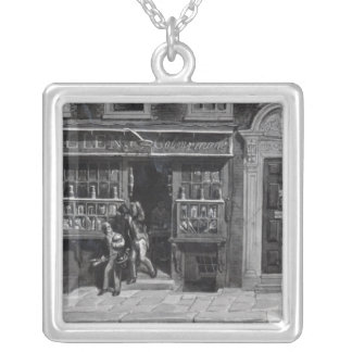 Colourman's Shop, St. Martin's Lane, London, 1829 Silver Plated Necklace