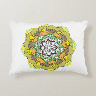 Colours flower Mandalas. Vintage decorative elemen Accent Pillow