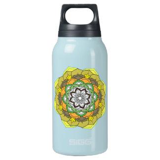 Colours Flower Mandalas. Vintage decorative elemen Insulated Water Bottle