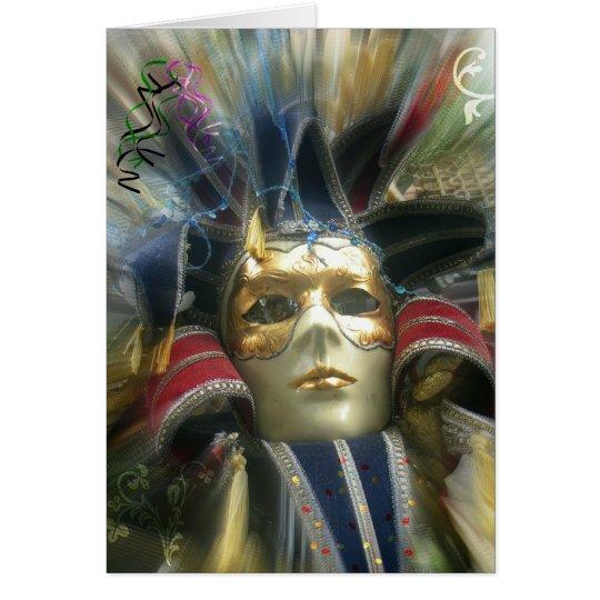 Colours Masquerade Card