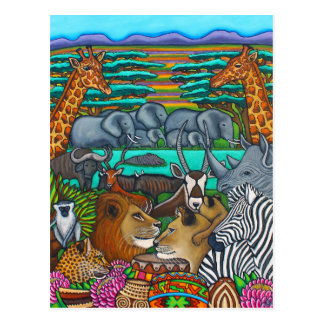 Colours of Africa Post Card by Lisa Lorenz