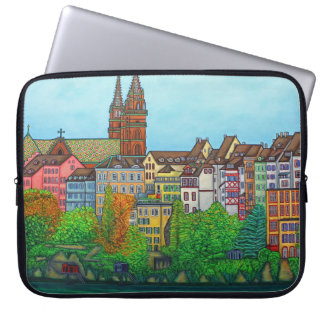 Colours of Basel Laptop Sleeve by Lisa Lorenz