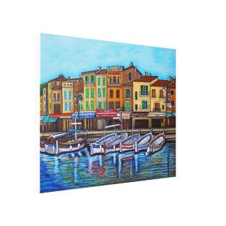 "Colours of Cassis, 24"" x 18"", Canvas Print"