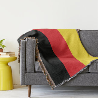 Colours of Germany Flag. Throw Blanket