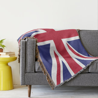 Colours of Great Britain Flag. Throw Blanket