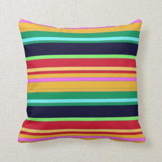Colours of Horizontal Lines Throw Pillow Decor-3