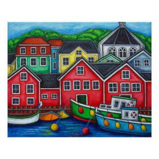 Colours of Lunenburg Print by Lisa Lorenz