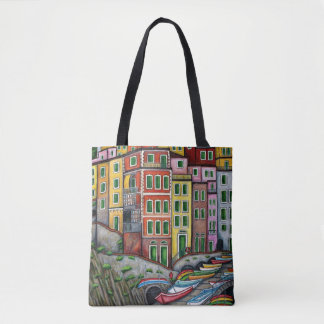 Colours of Riomaggiore Bag By Lisa Lorenz