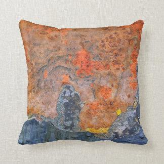 Colours of Rust 065, Rust-Art Throw Pillow