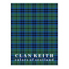 Colours of Scotland Clan Keith Tartan Postcard