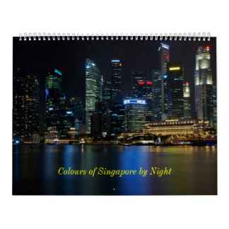 Colours of Singapore by Night Calendars