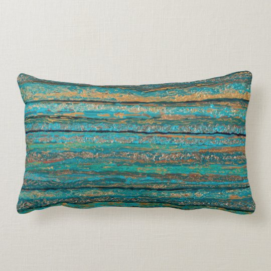 Colours of Teal Throw Pillow