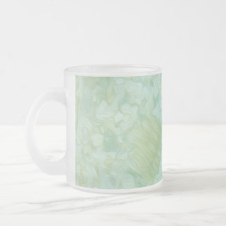 Colours of the Sea Frosted Glass Coffee Mug
