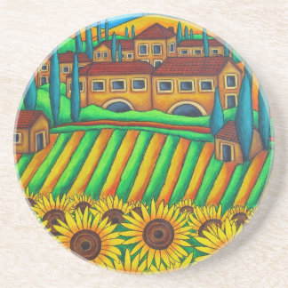 Colours of Tuscany Coasters by Lisa Lorenz