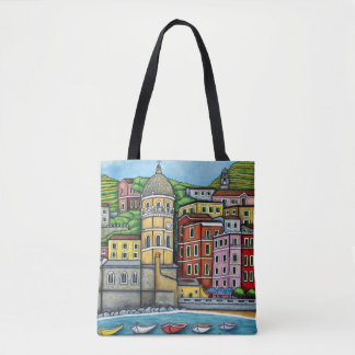 Colours of Vernazza By Lisa Lorenz Tote Bag