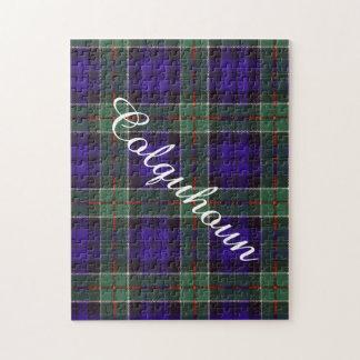 Colquhoun clan Plaid Scottish tartan Jigsaw Puzzle