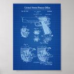 Colt 1911 Firearm Patent - Blueprint Poster