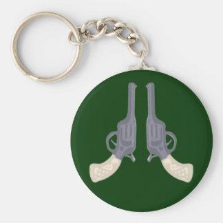 Colts gun pistols pistols basic round button keychain