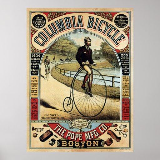COLUMBIA BICYCLE c. 1890 Poster