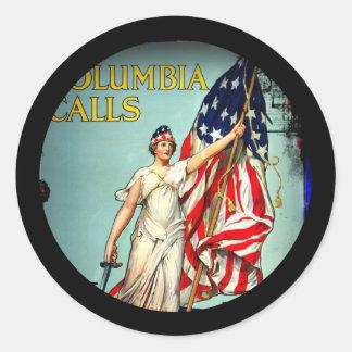Columbia Calls Enlist Now Classic Round Sticker