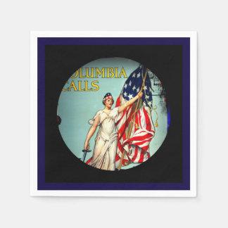 Columbia Calls Enlist Now Disposable Napkins