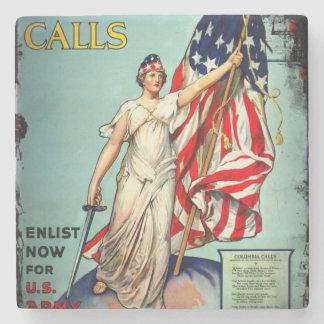 Columbia Calls Enlist Now Stone Coaster