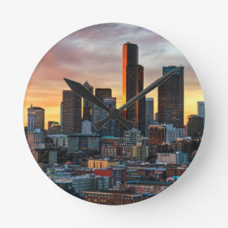 Columbia center and downtown Seattle, Seattle Clock