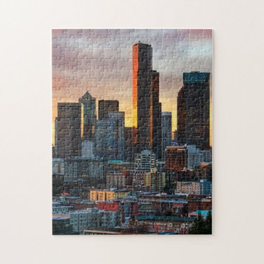 Columbia centre and downtown Seattle, Seattle Jigsaw Puzzle