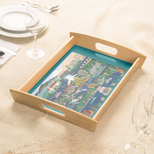 Columbia Gorge Cocktail Tray Serving Platter