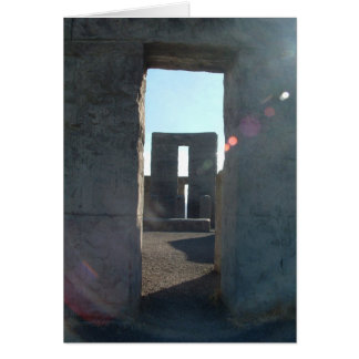 Columbia Gorge Road Trip - Stonehenge Card