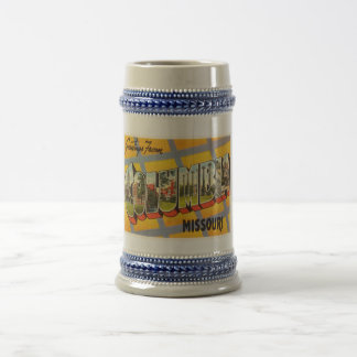 Columbia Missouri MO Old Vintage Travel Souvenir Beer Stein